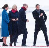 Norwegen - Tag 2  Prinz Haakon weißt den Weg: Auf Catherine und William wartet ein ereignisreicher Tag im verschneiten Norwegen.