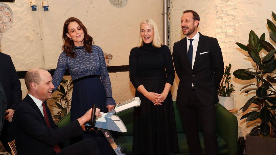 Prinz William, Herzogin Catherine, Prinzessin Mette-Marit, Prinz Haakon