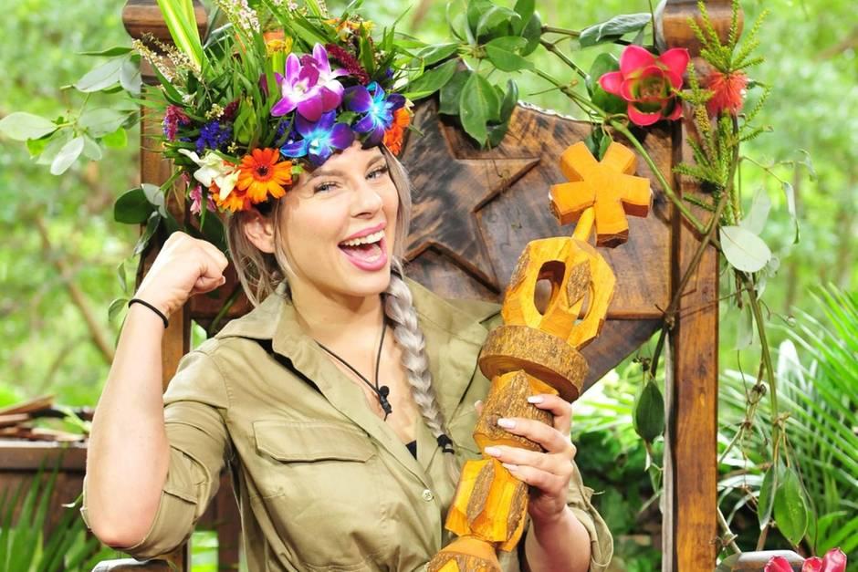 Sie sitzt auf dem Thron: Jenny Frankhauser, die Dschungelkönigin 2018