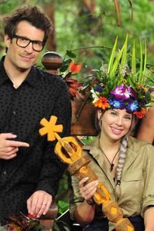 Jenny Frankhauser auf dem Dschungelthron