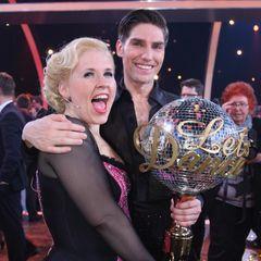"""""""Let's Dance""""-Gewinner 2011  Sängerin Maite Kelly und Tänzer Christian Polanc."""