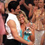 """""""Let's Dance""""-Gewinner 2007  Schauspielerin Susan Sideropoulos und Tänzer Christian Polanc."""