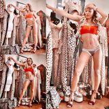 """""""Ja ich bin im Bikini, ja ich bin 42"""", schreibt Mel B zu einem Foto von sich in ihrem """"Spice Schrein"""" - hier hängen unzählige Outfits aus ihrer Zeit als """"Scary Spice"""". Die vielen Fans der Sängerin bewundern ihre tolle Figur, und schwelgen in Erinnerungen: Spätestens zum geplanten Comeback der Spice Girls wollen sie die Dreifach-Mama in diesen Outfits sehen"""