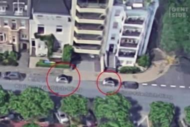 Teure Lösung für Park-Problem: Diese beiden Smarts werden als Parkpoller benutzt