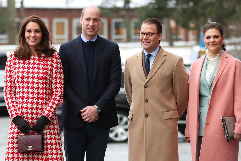 Herzogin Catherine, Prinz William, Prinz Daniel und Prinzessin Victoria