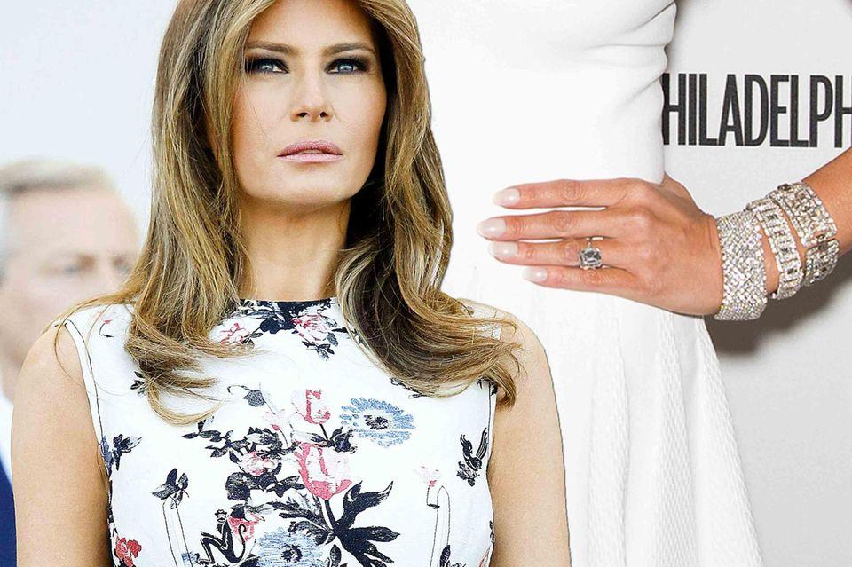 Melania Trump und die Frage: Wie teuer war ihr Verlobungsring?