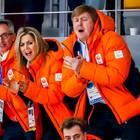 10. Februar 2018  Beim Eisschnelllaufen geht es um alles - und das Königspaar der Niederlande feuert kräftig an.