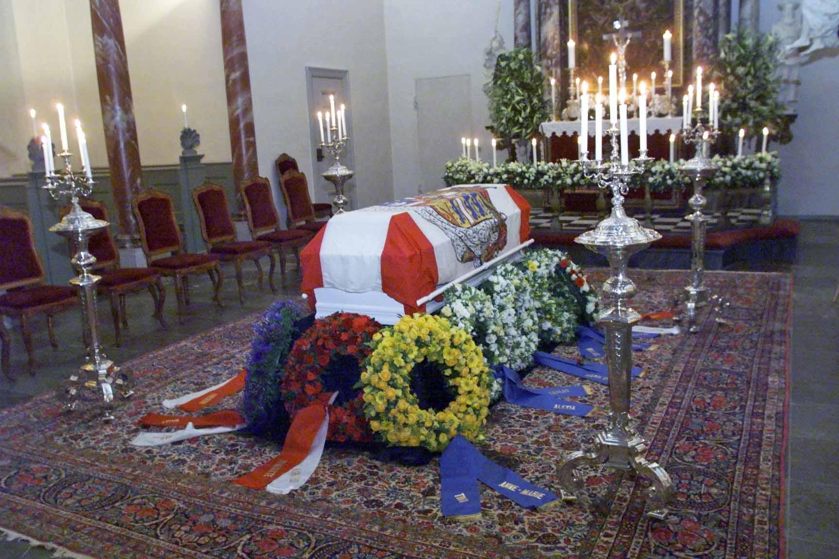 Der Sarg der Königinmutter wurde in der Kapelle von Fredensborg aufgebahrt.