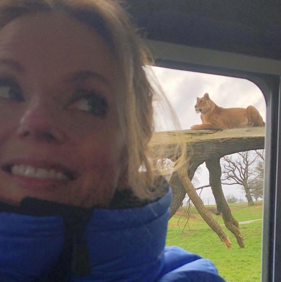 """Geri Halliwell postet """"Roar- Mein Sternzeichen"""" Die Gute schient Löwe zu sein."""