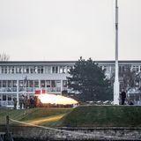 """15. Februar 2018  Nach dem Tod von Prinz Henrik werden Salutschüsse an der historischen Seebatterie Sixtus der Marinestation """"Holmen"""" abgefeuert."""