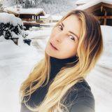 Giulia Siegel postet dieses Selfie aus dem verschneiten Kitzbühel.