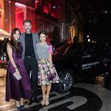 Mit dem BMW-Shuttle werden die Stars(hier Birthe Wolters, Jochen Schropp und Anna Julia Kapfelsberger) sicher zur tollen Eventlocation, dem Hotel Stue gefahren.