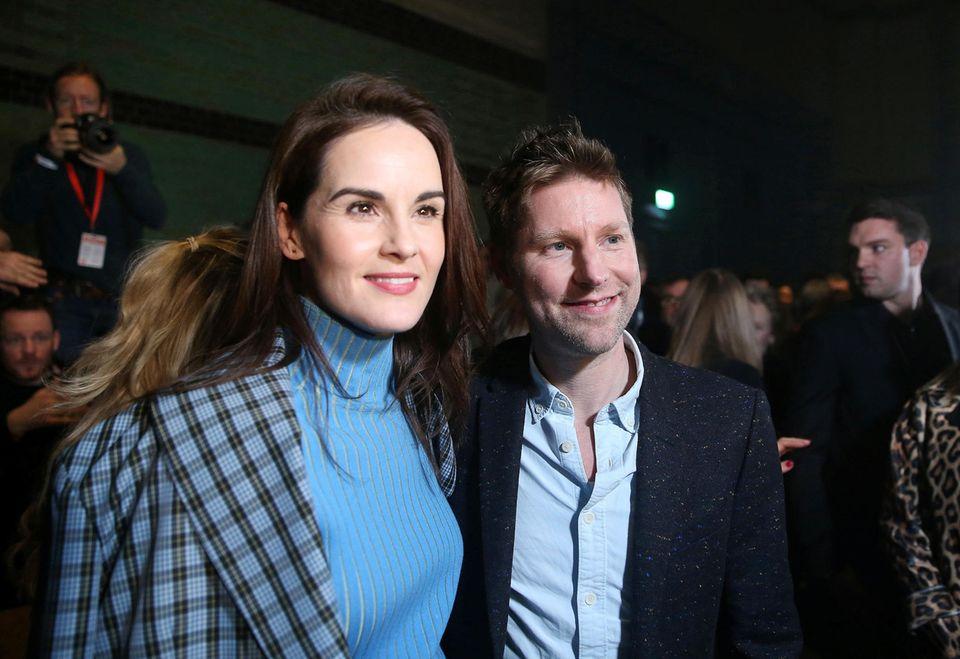 """""""Downton Abbey""""-Star Michelle Dockery will Christopher Baileys letzte Burberry-Show natürlich auch nicht verpassen."""