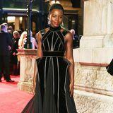 Lupita Nyong'o in Elie Saab Couture mit auffälligen Akzenten.