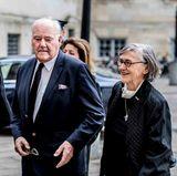 19. Februar  Prinz Henriks Bruder Etienne de Laborde de Monpezat ist nach Dänemark gereist, um an den Trauerfeierlichkeiten teilzunehmen. Ebenso wie seine Schwester Catherine (rechts).