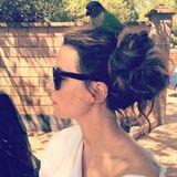 """17. Februar 2018  Bei Kate Beckinsale piept's wohl: Auf ihrem Kopf hat es sich ein kleiner Vogel gemütlich gemacht. Vielleicht soll dieser ihr Glück bringen. Zumindest glaubt die hübsche Schauspielerin offensichtlich daran. """"... Manchmal hat man einfach Glück"""", postet sie. Glück wünschen wir ihr in jedem Fall."""