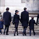 20. Februar 2018  Prinz Joachim und seine Familie betreten die Kirche.
