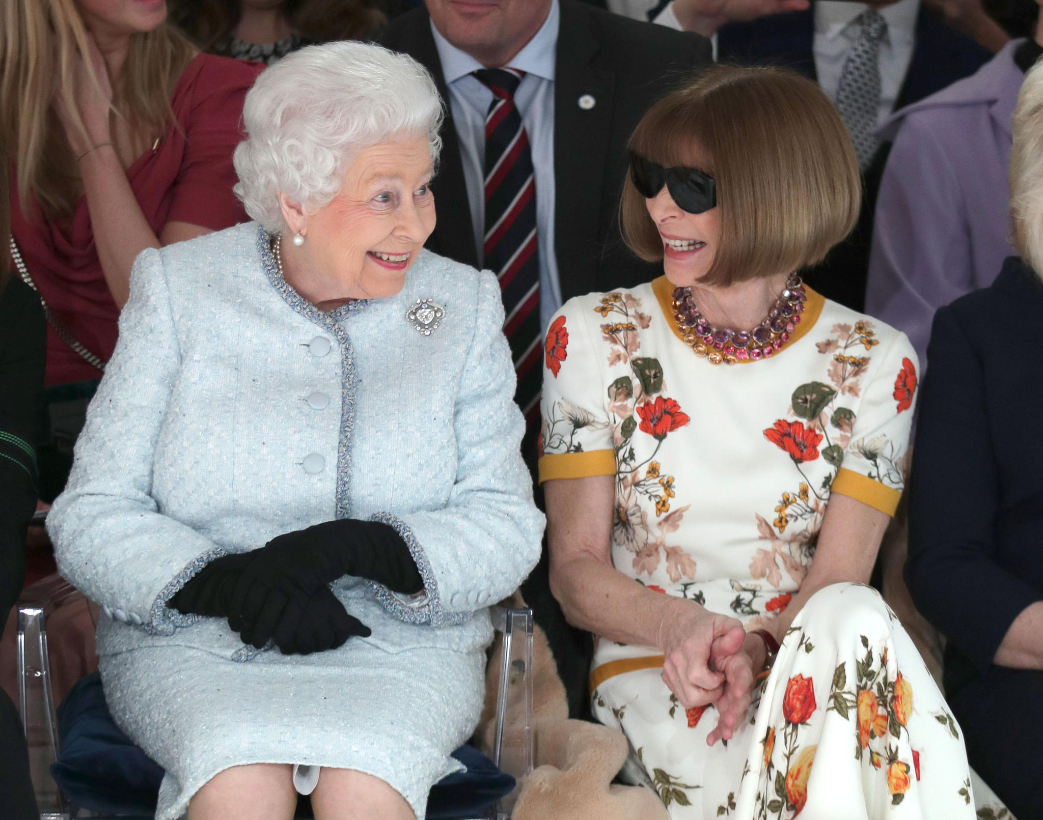 Premiere: Queen Elizabeth besuchte London Fashion Week
