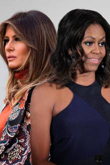 Melania Trump (l.) und Michelle Obama, die 45. und 44. First Ladies der USA