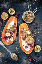 Papaya-Früchteboote