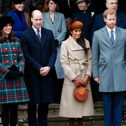 Herzogin Catherine, Prinz William, Meghan Markle + Prinz Harry