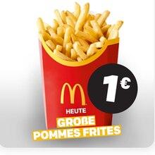 Eine große Pommes kostet heute nur einen Euro.