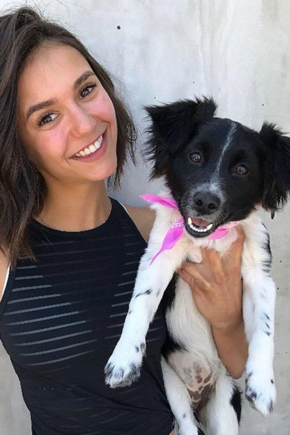 Große Hundeliebe auch bei Nina Dobrev. Ihre süße Hündin feiert am Valentinstag ihren ersten Geburtstag. Dies nimmt Nina Dobrev zum Anlass, viele süße Fotos von sich und dem flauschigen Vierbeiner zu posten.