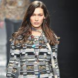 Für Bella ist die Schau von Missoni die sechste Fashionshow während der Mailänder Modewoche.