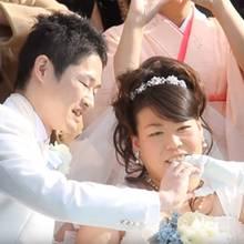 Acht Jahre später als geplant haben die beiden geheiratet.