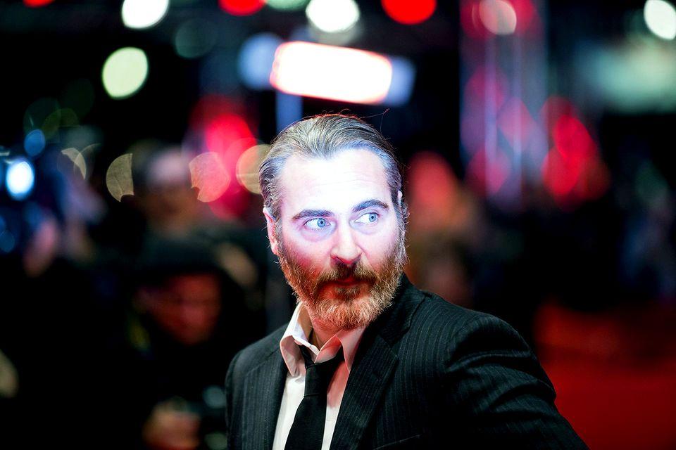 "Darsteller Joaquin Phoenix besucht die Premiere des Films ""Don't Worry, He Won't Get Far on Foot""."