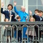 Königin Margrethe und ihre Enkelkinder
