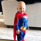 """8. Februar 2018  Faschingszeit im Hause Baldwin. Der kleine Leonardo geht als """"Superman."""""""