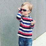 25. Januar 2018  Cooler geht's nicht. Der 2-jährige Rafael Thomas Baldwin testet seine neue Sonnenbrille.