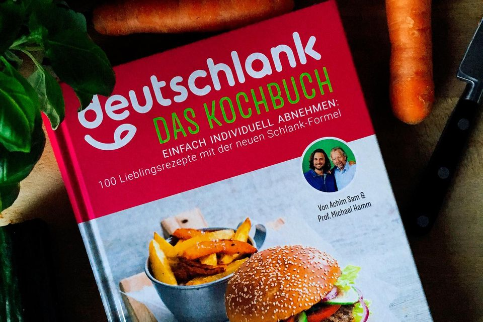 Deutschlanks Cover hält, was es verspricht: Selbst ein Rezept für Burger ist im Inneren zu finden. Natürlich als gesunde Variante, angepasst auf die drei verschiedenen Stoffwechseltypen.