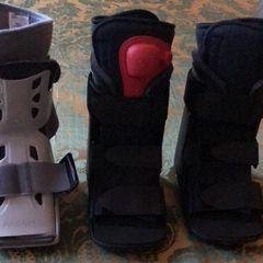 Im Ski-Urlaub in Kanada hat sich Victoria wohl einen Ermüdungsbruch zugelegt und muss deshalb Vorlieb mit diesen hübschen Schuhen nehmen.