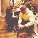 """24. Dezember 2017  Weihnachten bei den Lombardis. Trotz Trennung von Sarah und Pietro verbringt die kleine Familie den Heiligabend zusammen. """"Das schönste Geschenk an Weihnachten ist ein Kinderlächeln"""", postet Sarah auf ihrem Instagram-Account."""