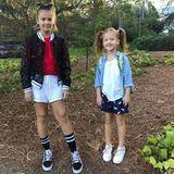 5. September 2017  Erster Schultag nach den Ferien für die beiden Schwestern Haven und Honor.