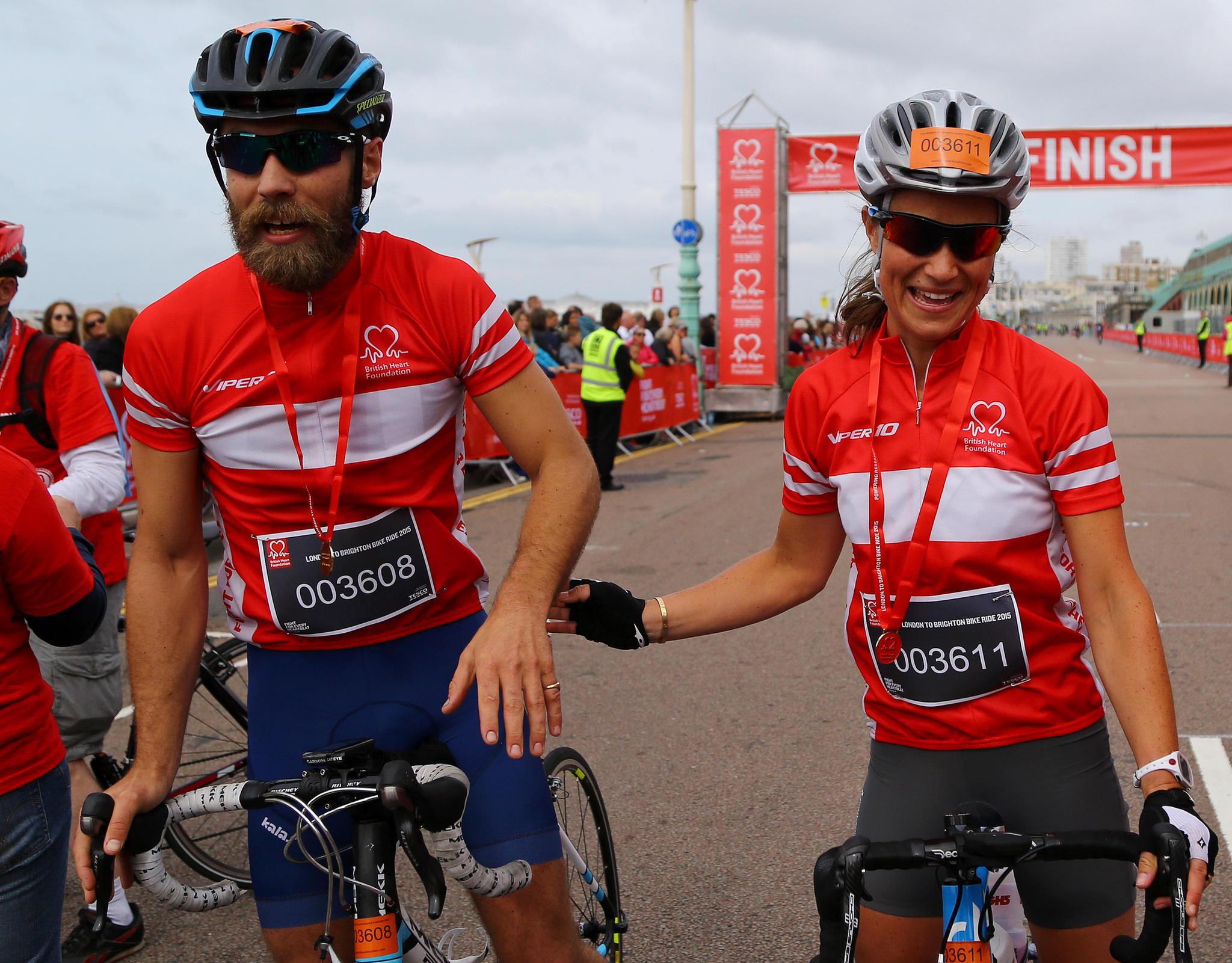 James und Pippa Middleton bei einem Fahrradrennen in Brighton.