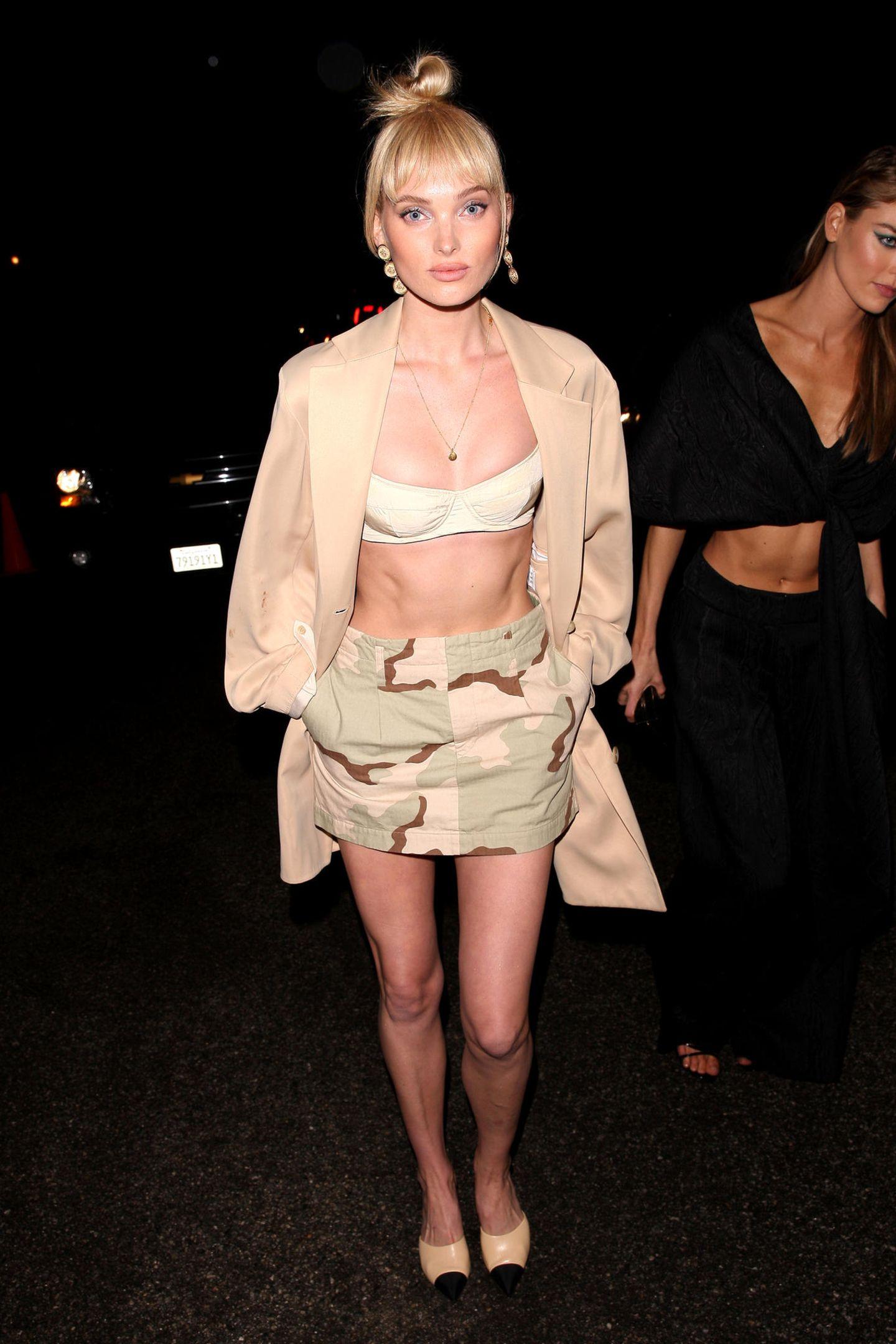 WME's Pre-Oscar Soiree  Wenn selbst XS locker sitzt: Model Elsa Hosks Outfit ist stimmig, ihre sehr schlanke Silhouette hingegen ist eher bedenklich.