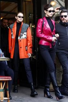 Stylisch auch abseits des Catwalks: In diesen Knaller-Outfits machten die Hadid-Schwestern Gigi und Bella Paris während der Fashion Week unsicher.