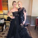 Lindsey Vonn nimmt ihre Schwester Karin Kildow mit zu den 90. Academy Awards.