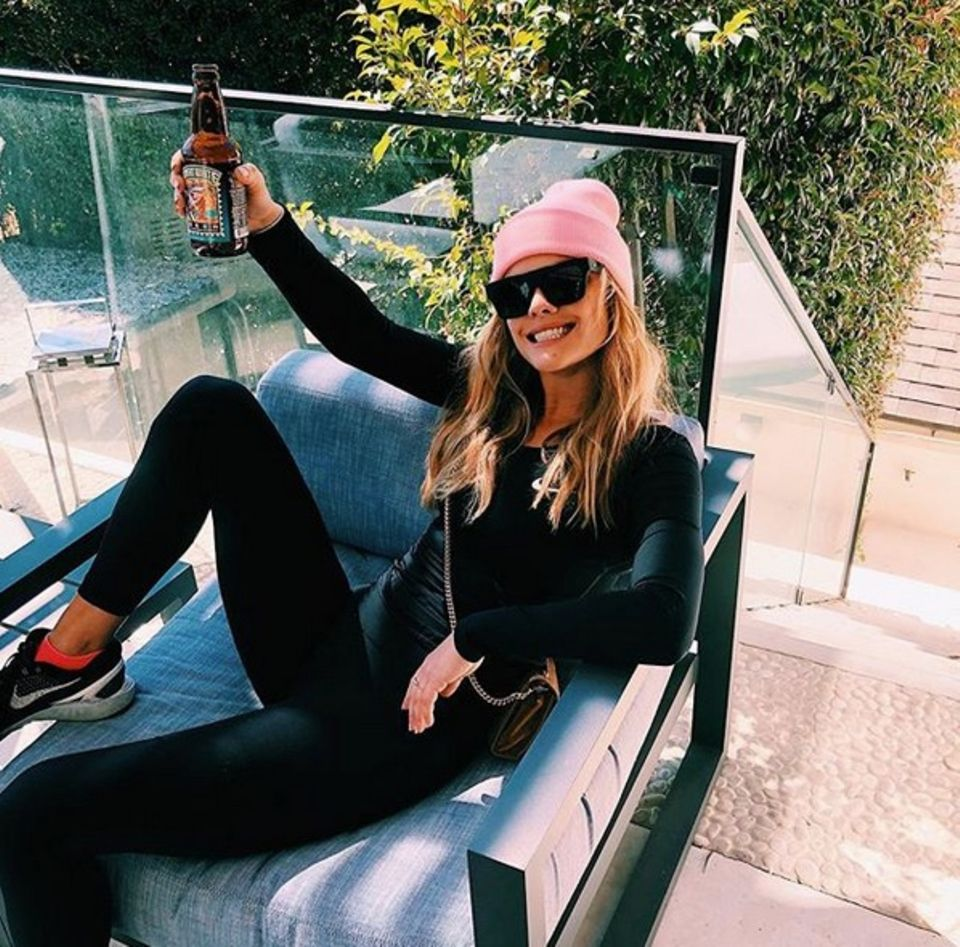 Den Tag vor der Oscar-Verleihung lässt Model Nina Agdal ganz entspannt angehen.