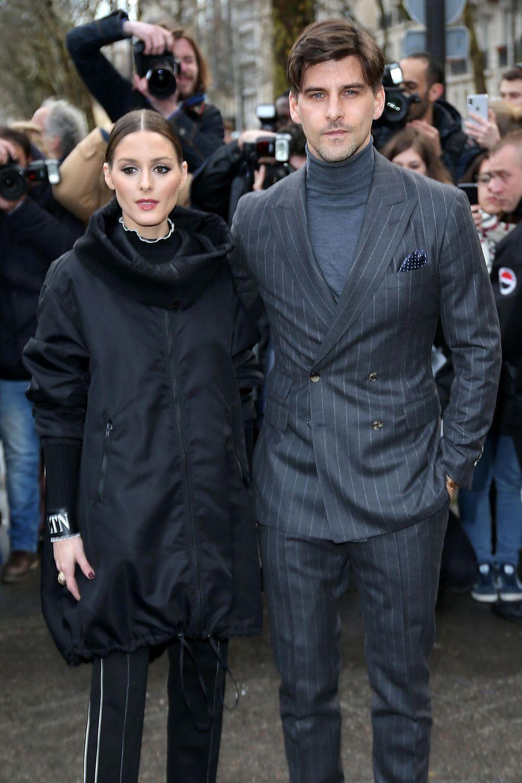 Dürfen in keiner Front-Row fehlen: Das Fashion-Pärchen Olivia Palermo und Johannes Huebl sind bei Valentino zu Gast.