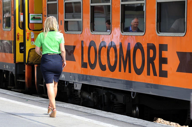 Die Locomore-Fernzüge wurden in der Testphase von Flixbus genutzt. Die neuen Flixtrains werden giftgrün sein.