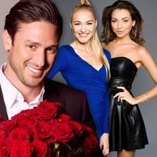 """""""Der Bachelor"""" Daniel Völz und seine Finalistinnen Svenja und Kristina"""