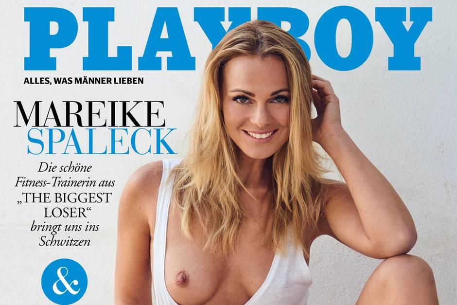 """Mareike Spaleck auf dem Cover des deutschen """"Playboy"""""""