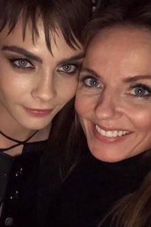 Model Cara Delevingne ist begeistert von ihrem Abend mitSpice Girl Geri Halliwell - der Patentante ihrer Träume, wie sie postet.