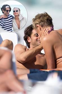 Sharon Stone undAngelo Boffa  Einen Tag vor ihrem 60. Geburtstag wird Sharon Stone in Miami beim Turteln am Strand mit dem 19 Jahre jüngeren Zürcher Immobilienmakler gesichtet. Der Hollywoodstar strahlt - kein Wunder, bei diesem knackigen Toyboy.