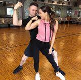 Bei den beiden läuft's! Jessica Paszka und Tanzpartner Robert Beitsch scheinen sich blendend zu verstehen.
