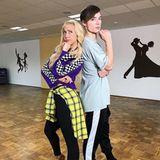 Heiko Lochmann und Tanzpartnerin Kathrin Menzinger sind sich noch etwas unschlüssig. Wie sich das Tanzpärchen wirklich in den Shows macht, wird man demnächst sehen.